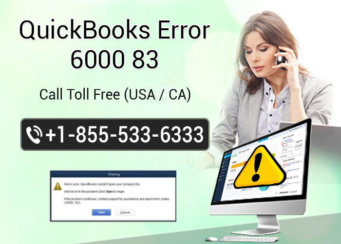 Apply these Steps to get rid of QuickBooks error 6000 83